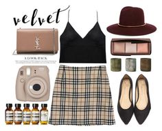 Fall Outfit 2016 by sukh-deol on Polyvore featuring Curriculum Vitae, Burberry, Yves Saint Laurent, Janessa Leone, Aesop, NKUKU and Fujifilm