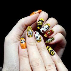 BunnyTailNails: Nails to match the yellow cartoon hair