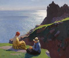 On the Cliffs, Laura Knight