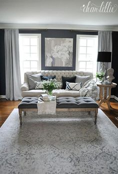 110 Fabulous Dark Grey Living Room Ideas To Inspire You