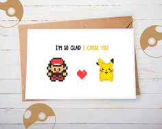 We're getting ready for Valentines Day here! Are you ready yet? Check out our geeky Pokemon Valentine Cards featuring Pikachu and Ash in our Etsy store. Can't find what you are looking for? No worries, there're plenty more nerdy Valentines Day gift ideas in our shop ranging from Pokemon, Zelda, Super Mario to Dragonball Z, Harry Potter, Star Wars and many more!