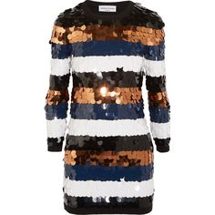 Sonia Rykiel Sequined wool-jersey mini dress (8.825 RON) ❤ liked on Polyvore featuring dresses, sonia rykiel, mini dress, slip on dress, sequin dresses and short dresses