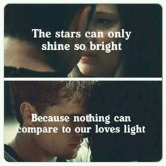 Love is like the stars that can only shine so bright , because nothing can compare to our loves light ♡♡♡