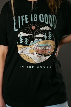 Life Is Good Boyfriend Tee Best Boyfriend, Boyfriend Tee, Trendy Tops For Women, T Shirts With Sayings, Vintage Denim, Cool T Shirts, Casual Wear, Life Is Good, Going Out