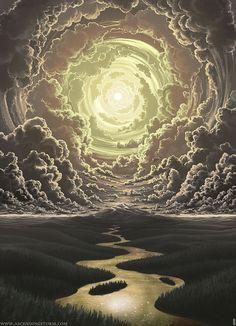 """""""Aquello que sólo existe en la mente"""" por Ascending Storm, pintura digital - http://www.creativosonline.org/blog/aquello-que-solo-existe-en-la-mente-por-ascending-storm-pintura-digital.html"""
