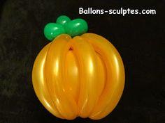 citrouille en ballons sculptés pour Halloween