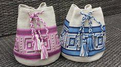 tassen roze en blauw