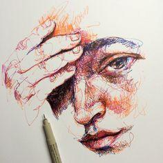 ∞Noel Badges Pugh∞ Gcse Art, Pen Art, Portrait Art, Art Forms, Collage Art, Art Inspo, Illustration Art, Illustrations, Watercolor Art