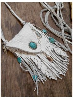 Leather Art, Leather Pouch, Leather Jewelry, Leather Purses, Leather Totes, Cow Leather, White Leather, Native American Medicine Bag, Native American Crafts