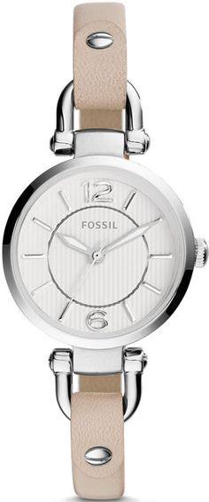 Women's Fossil Georgia Mini White Leather Strap Watch ES3808 Review