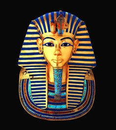 The famous funerary mask of Tutankhamun in Gold, semiprecious stones, quartz and glass paste - ancient Egypt - Egyptian Museum Egyptian Mask, Ancient Egyptian Art, Ancient History, Art History, Black History, National Geographic Kids, Art Antique, Egypt Art, Tutankhamun