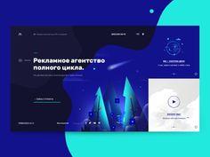 Meteora–PR: Home designed by Igor Mahr. User Interface Design, Ui Ux Design, Site Design, Clean Design, Layout Design, Modern Web Design, Graphic Design Art, Science Web, Design Your Own Website