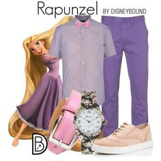 Rapunzel by leslieakay on Polyvore featuring Kate Spade, pakerson, Paul Smith, Topman, Brooks Brothers, disney, disneybound, MensFashion and disneycharacter