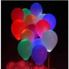 22 Awesome DIY Balloons Decorations - Put a glow stick in balloons before inflating them – really cute idea for an outdoor party – provides fun lighting