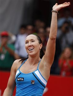 Serbia's Jelena Jankovic celebrates after defeating Argentina's Paula Ormaechea at the end of the WTA Claro Colsanitas Cup final tennis match in Bogota, Colombia, Sunday, Feb. 24, 2013. Jankovic won 6-1, 6-2.(AP Photo/Fernando Vergara)