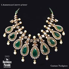 :O stunning emerald drop necklace Indian Traditional Kundaan uncut diamonds pearls emerald
