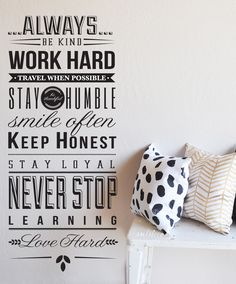 ALWAYS BE - Quote wall decal