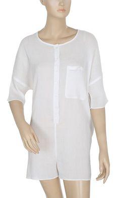 f2addd5071ba 168200 New Free People Endless Summer White Beach Boho Romper Dress Large L   fashion