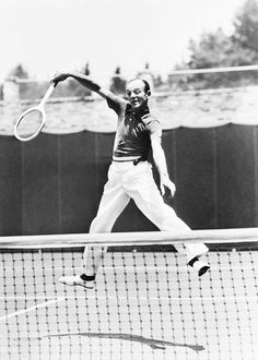 Fred Astaire - 1937. Playing on his home tennis court, Beverly Hills, CA