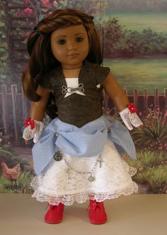 Steampunk Dorothy- Steampunk styled ensemble for American Girl. Cupcake Cutie Pie- Couture Doll Creations (Erin) via Etsy.