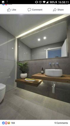 Badezimmer modernes Design - Waschtischplatte aus Massivholz Acne Care Skin Treatment There are many Modern Bathrooms Interior, Modern Bathroom Design, Bathroom Interior Design, Modern Design, Interior Livingroom, Modern Toilet Design, Toilet Tiles Design, Bath Design, Bathroom Designs