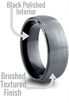 8mm Mens tungsten wedding band. This makes a great modern mens wedding band.