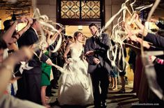 Ribbon Wands for Wedding Exit- Live Love Breathe Weddings