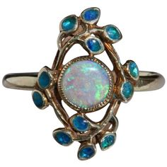 Jessie M. King Liberty & Co Gold Opal and Enamel Ring 1