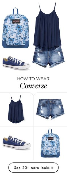 """High School"" by jollyme on Polyvore featuring H&M, Gap, Converse and JanSport"