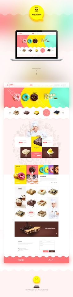 甜品蛋糕网页设计