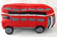 Side view of a Knitted London Routemaster Bus