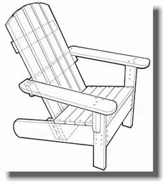 Adirondack Chairs - shows layout on each piece of wood