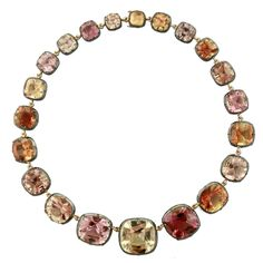 So much more to tourmaline than just the greens and pinks! Tourmaline riviere necklace by Taffin