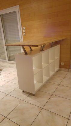 Everyone knows & shelves from IKEA! Here are 14 great DIY ideas with Kallax shelves! - DIY ideas - Everyone knows Kallax shelves from IKEA! Here are 14 great DIY ideas with Kallax shelves! Ikea Regal, Ikea Kallax Regal, Kallax Shelf, Ikea Shelves, Bar Shelves, Glass Shelves, Patio Bar Set, Pub Table Sets, Bar Tables