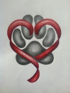 Pet memorial tattoo design - cute idea, i would do this for my Sassy girl <3