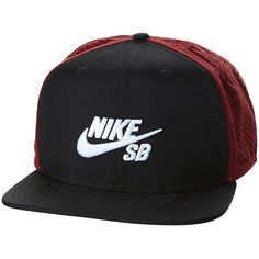 Nike Sb Performance Trucker Cap Red Cotton ($29) ❤ liked on Polyvore featuring men's fashion, men's accessories, men's hats, accessories, mens caps, red, trucker caps, mens trucker caps, mens cotton beanie hats and mens flat hats