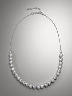 Talbots - Sterling Silver Bead & Link Necklace   Accessories  