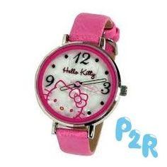 Relógio Analógico Rosa Hello Kitty Redondo