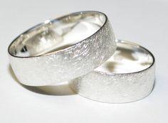 925 Silber Trauringe Eheringe Hochzeitsringe - Paarpreis - Breite 7mm - Eismatt