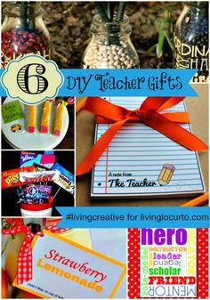 6 DIY Teacher Gifts for #livingcreative Thursday at LivingLocurto.com