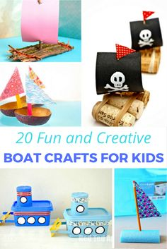 A fantastic selection of boat crafts for kids. What kid doesn't love designing, creating and trying to float a boat a that they've made from scratch?
