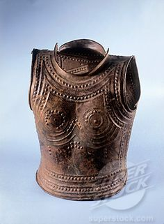 Armor 800 B. C.Celtic Art, Bronze  Museum of National Antiquities, Saint-German-en-Laye, France