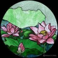 Resultado de imagen para monet water lilies stained glass