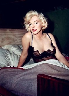 Marilyn Monroe inspires me to sleep in sexy lingerie more often