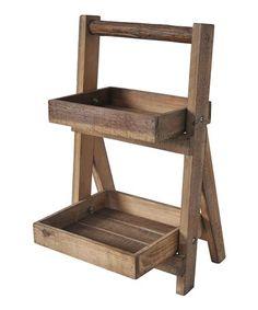 Look at this #zulilyfind! Small Farmhouse Two-Tier Folding Shelf #zulilyfinds