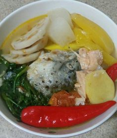Salmon Sinigang sa Mangga (Salmon Stewed in Mango) by me