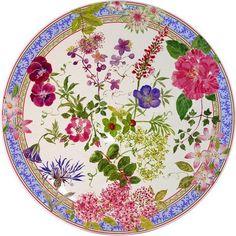 Gien France - Millefleurs Round Cake Platter