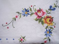 Handmade Cross Stitch Cross Stitch Table Cloth