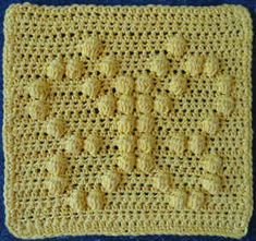 Butterfly Crochet Dishcloth – would be great as squares for a blanket! Butterfly Crochet Dishcloth – would be great as squares for a blanket! Crochet Puntada Bobble, Crochet Bobble, Crochet Puff Flower, Crochet Gratis, Crochet Butterfly, Crochet Dishcloths, Crochet Afghans, Baby Blanket Crochet, Free Crochet