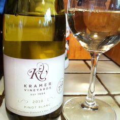 Fantastic #Oregon Pinot Blanc from Kramer Vineyards. #wine #orwine